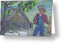Farm Work II Greeting Card