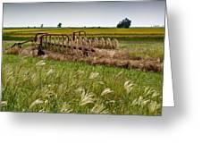 Farm Work Wiind And Rain Greeting Card