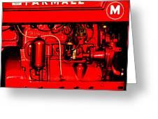 Farmall Engine Detail Greeting Card