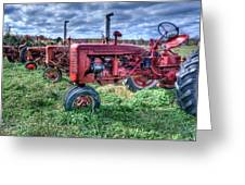 Farmall Graveyard Greeting Card