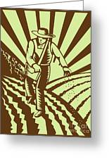 Farmer Sowing Seeds  Greeting Card