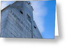 Farmers Grain Elevator, Power, Montana Greeting Card