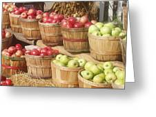 Farmer's Market Apples Greeting Card