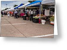 Farmers Market Before The Crowd Greeting Card
