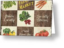 Farmer's Market Patch Greeting Card