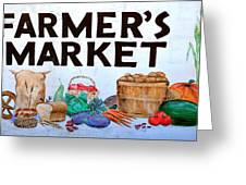 Farmers Market Sign. Greeting Card