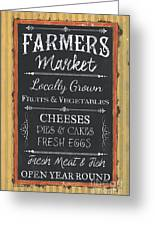 Farmer's Market Signs Greeting Card