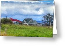 Farmhouse By The Sea Greeting Card