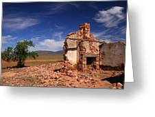 Farmhouse Cottage Ruin Flinders Ranges South Australia Greeting Card