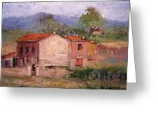 Farmhouse In Tuscany Greeting Card