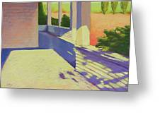 Farmhouse Porch Greeting Card by Mary McInnis