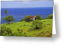 Farmhouse-st Lucia Greeting Card