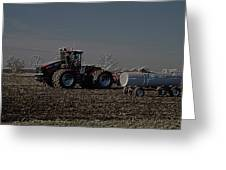 Farming April In The Field On The Case 500 Pa Greeting Card