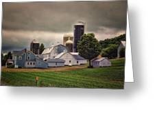 Farming Before The Storm Finger Lakes New York 04 Greeting Card