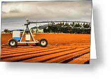 Farming Field Equipment Greeting Card