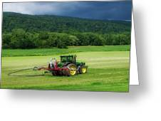 Farming New York State Before The July Storm 02 Greeting Card