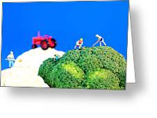Farming On Broccoli And Cauliflower II Greeting Card