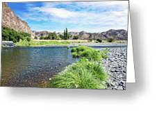 Farmland Along John Day River Greeting Card