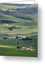 Farmland In Eastern Washington State Greeting Card