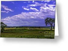 Farmland In Gettysburg Version II Greeting Card