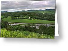 Farmland View Over The Connecticut River  Greeting Card