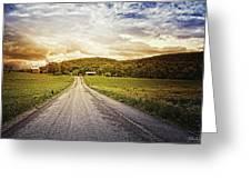 Farmstead Drive Greeting Card