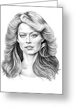 Farrah Fawcett Greeting Card
