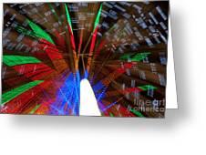 Farris Wheel Light Abstract Greeting Card