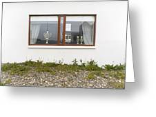 Facade - A Window With A Trophy To Show Greeting Card