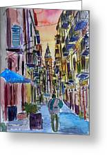 Fascinating Palermo Sicily Italy Street Scene Greeting Card