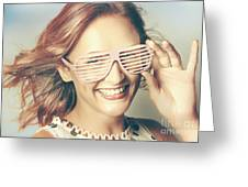 Fashion Eyewear Pin-up Greeting Card
