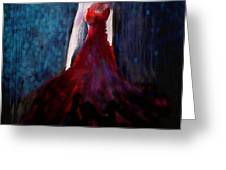 Fashion Illustration Red Greeting Card