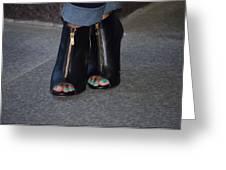 Fashionable Feet Greeting Card