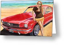 Fast Back And I  Greeting Card