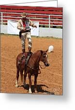 Fast Draw Cowboy Greeting Card