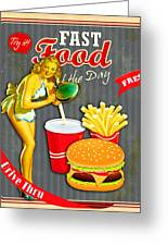 Fast Food Of The Day Greeting Card