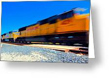 Fast Freight Greeting Card
