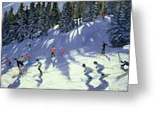 Fast Run Greeting Card by Andrew Macara