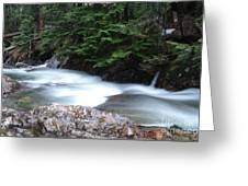 Fast Water Tumbling Fast  Greeting Card