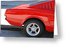 Fastback Mustang Greeting Card