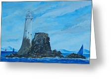 Fastnet Rock Lighthouse. Greeting Card