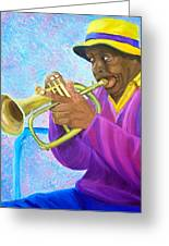 Fat Albert Plays The Trumpet Greeting Card