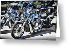 Fat And Glitzy Harleys Greeting Card