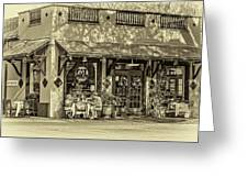 Fat Hen Grocery Sepia Greeting Card