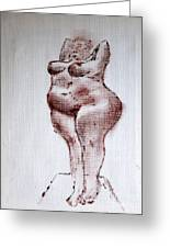 Fat Nude Woman  Greeting Card