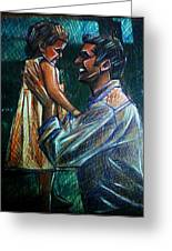 Father And Daughter Greeting Card by Paulo Zerbato