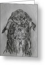 Father And Puppy  Greeting Card