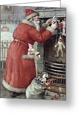Father Christmas Greeting Card by Karl Roger