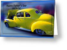 Father's Day W Frame Greeting Card
