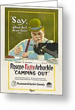 Fatty Arbuckle In Camping Out 1919 Greeting Card
